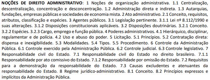 Conteúdo Direito Administrativo PF