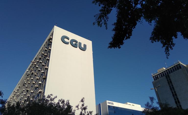 Faixada do prédio da CGU, que teve concursos aprovado