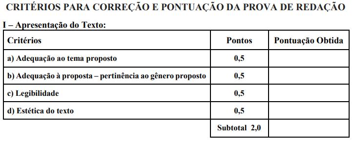 prova redação concurso Prefeitura de Rio Verde