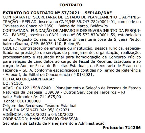Concurso Sefa PA: contrato ASSINADO! Edital em novembro!